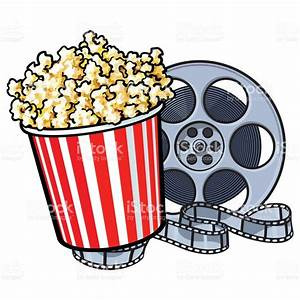 Popcorn clipart film reel - Pencil and in color popcorn ...