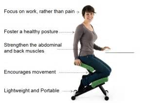 what are the benefits of kneeling chairs