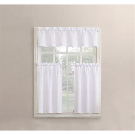 martine white microfiber kitchen curtains  piece