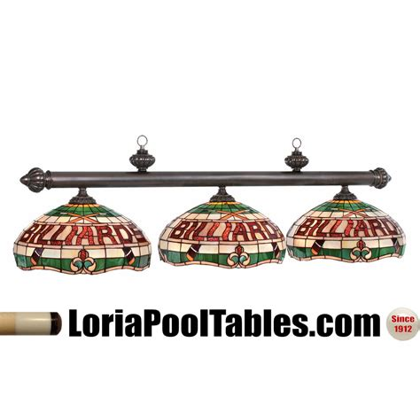 stained glass pool table light fixture quot billiards quot 3 shade stained glass pool table light fixture