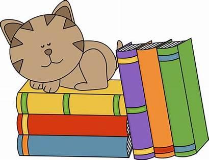 Clipart Books Stack Clip Clipartpanda Cat Children