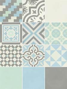 carreau de ciment belle epoque decor gris bleu vert et With carreau ciment bleu