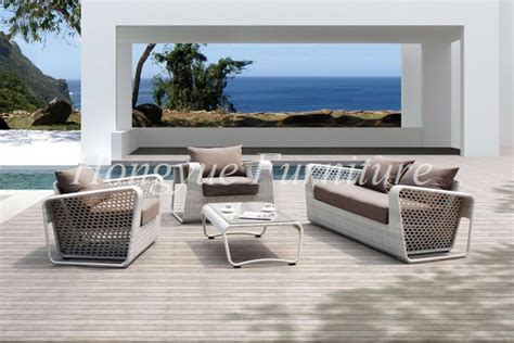 outdoor patio white rattan furniture wicker sofa set
