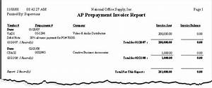 accountmate sample reports With prepayment invoice sample