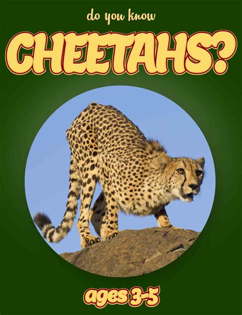 Cheetah Facts For Kids Ages 3 5 Do You Know Cheetahs