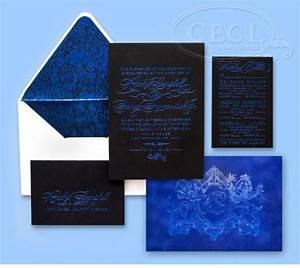 blue wedding electric blue wedding invitation suite With electric blue wedding invitations