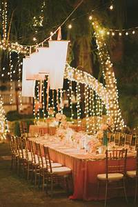 15 sparkling wedding ideas you can39t help but fall in love for Outdoor wedding reception lighting