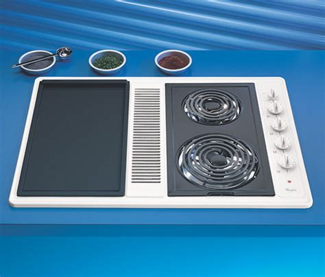 whirlpool downdraft electric cooktop coil vent cooktops modular inch lg ajmadison amazon seperately