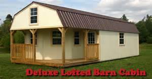 derksen portable deluxe lofted barn cabins by enterprise