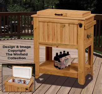 project  woodworking woodworking plans   cowboy cooler