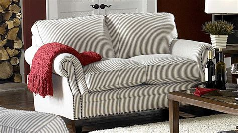 Striped Sofas by White Blue Striped Fabric Cottage Style Sofa Loveseat Set