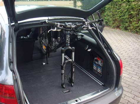 fahrrad im auto transportieren bild 1 fahrrad ohne fahrradhalter im auto transportieren gehts audi a6 4f 202955124