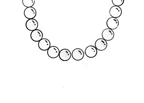 pearl necklace clipart black and white pearl necklace by tealrhino still drawing