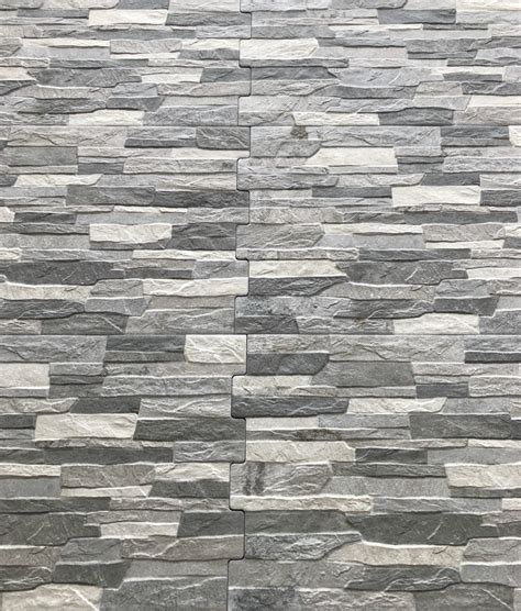 Stein Fliesen Wand by Zafra Gris Grey Brick Effect Tiles 34 X 50cm