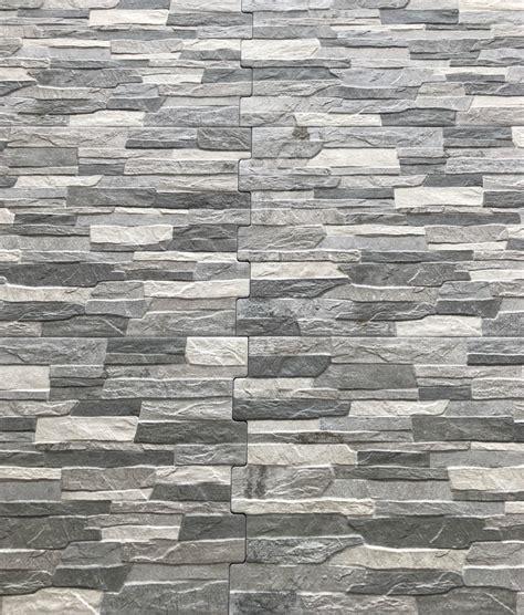 Zafra Gris Grey Natural Stone Brick Effect Tiles 34 x 50cm