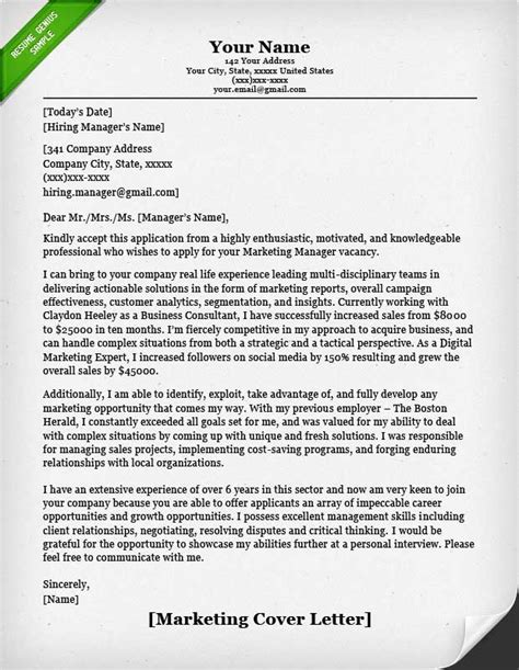 Cover Letter For Application Sales And Marketing by Salesperson Marketing Cover Letters Resume Genius
