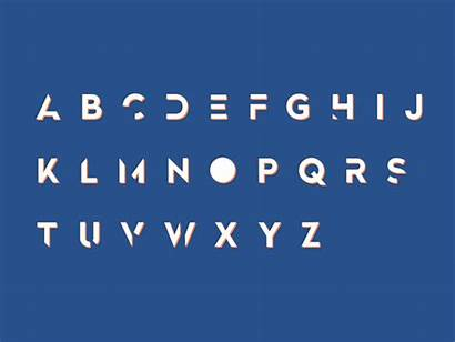 Alphabet Giphy Gifs Distortion Alphabets Permainan Animated