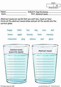 Abstract Nouns Worksheets For 3rd Grade  Concrete And