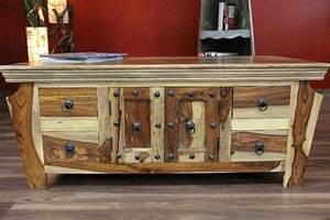 Couchtisch Holz Natur : sheesham couchtisch aus massivholz im kolonialstil kontrastreich ~ Markanthonyermac.com Haus und Dekorationen