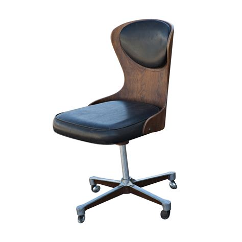 mid century modern plycraft swivel desk chair ebay