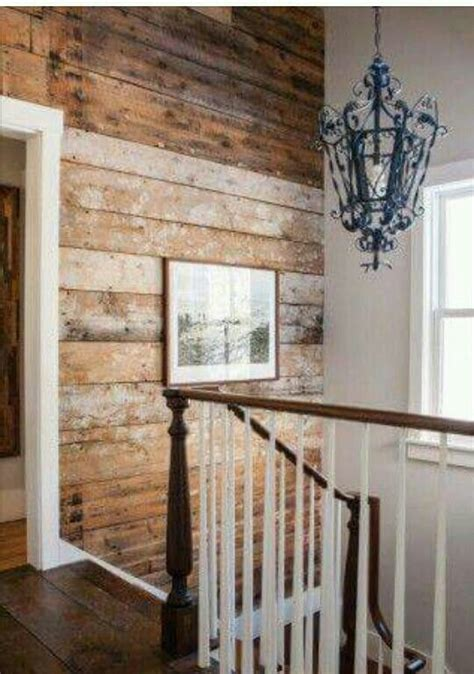 wonderful raw wood shiplap wall country house decor