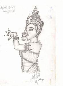 Apsara - Dancing Khmer Girl by Laziiboi on DeviantArt