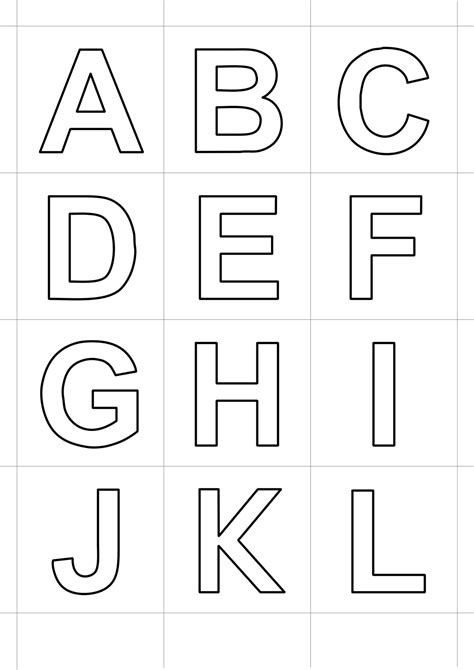 lettere alfabeto e numeri da stare e colorare lettere e numeri lettere statello dalla a alla l 19415