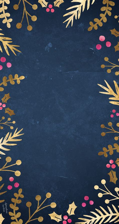free iphone wallpaper free festive wallpaper gold foil foliage