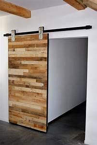 Porte Coulissante En Bois : portes coulissantes appartement pinte ~ Melissatoandfro.com Idées de Décoration