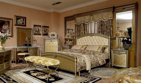 European Bedroom 4 pc zeus european golden luxury bedroom set