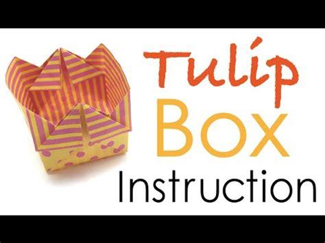 Origami Paper Tulip Shaped Box Instruction