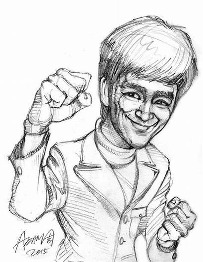 Bruce Lee Fu Kung Dragon Drawings Uploaded