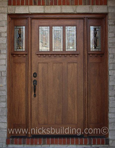 Interior Door Stain Colors by Special Walnut Stain Color On A Craftman Style Entry Door
