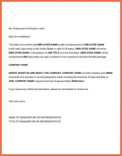 employment verification letter sle employment letter sle sle letter of employment template 9887