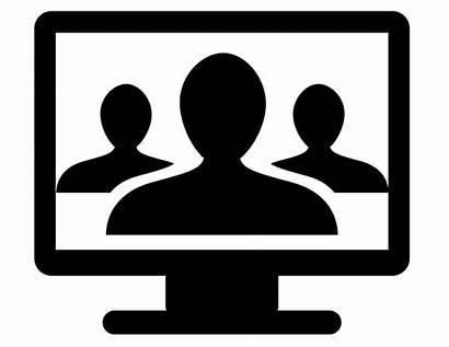 Virtual Class Assistant Icon Training Conferencing Face