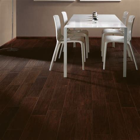 espresso faux wood tile use matching grout for a more