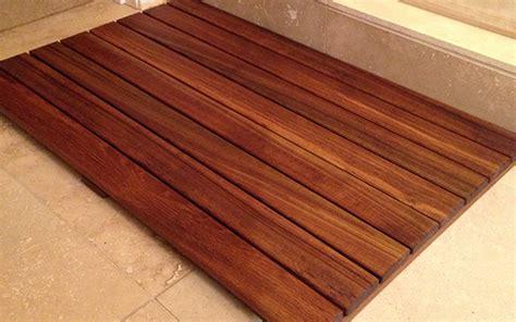 Teak Bathroom Floor Mat