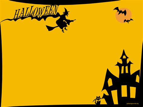 halloween backgrounds  powerpoint festival collections