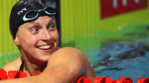 Find the perfect katie ledecky stock photos and editorial news pictures from getty images. Katie Ledecky balances glass of chocolate milk on head ...