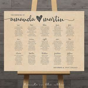 Wedding Reception Table Seating Chart Ideas