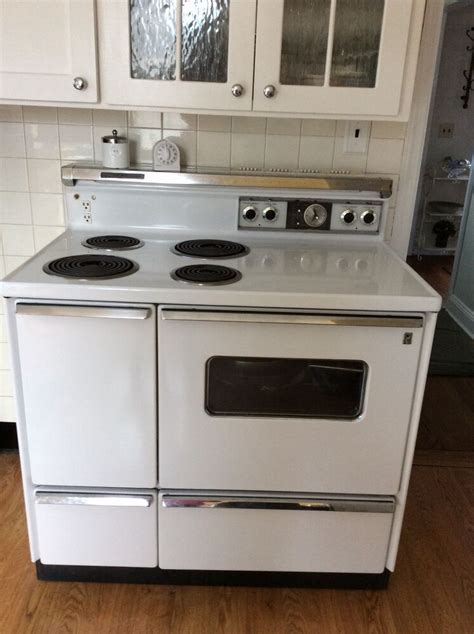 vintage ge double oven electric stove  ebay