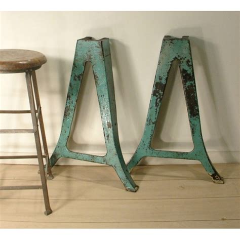 cast iron table legs vintage industrial table legs cast iron metal leg pair