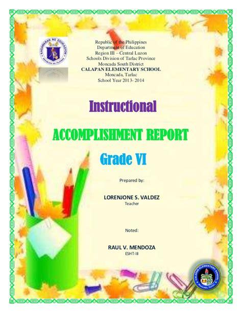 instructional accomplishment report