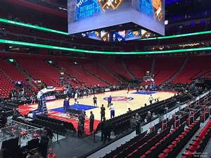 Detroit Pistons Seating Chart With Seat Numbers Section 113 At Little Caesars Arena Detroit Pistons