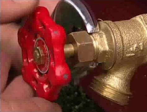 tighten packing nut on outdoor faucet