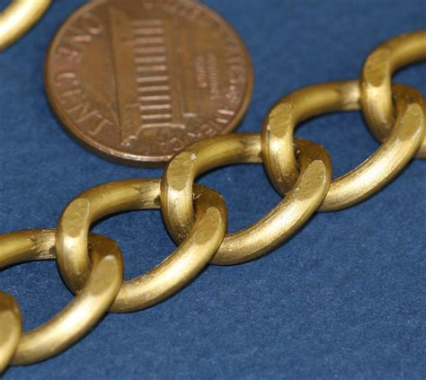 ft  extra large aluminum curb chain xmm antique gold ebay