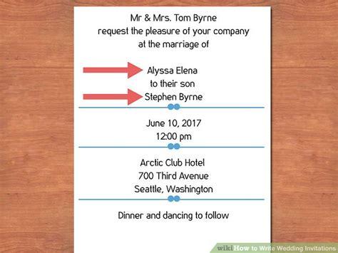 easy ways  write wedding invitations  pictures