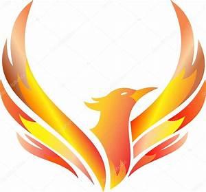 fogo de Fênix logotipo conservado em estoque flying ...