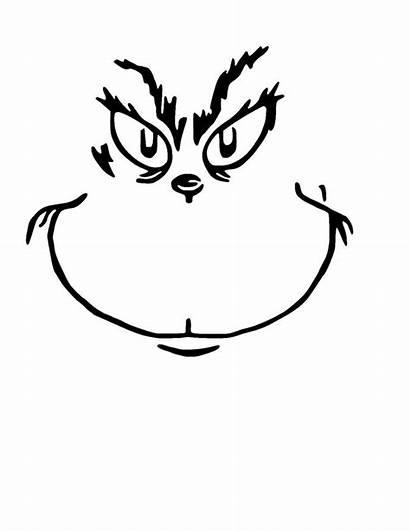 Grinch Face Christmas Clip Vinyl Cricut Svg