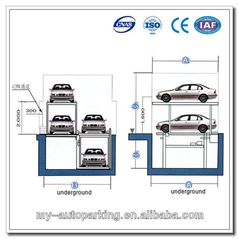 4 Post Pit Type Parking Lift, Underground Car Parking System